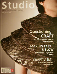 studio magazine, canada, toronto, online, publication, jon riosa, OCAD University, ontario craft council, thesis, feature, international